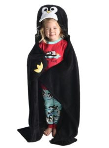 Penguin Gifts for Kids - Hooded Penguin Blanket