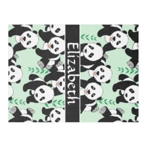 Panda Gifts - Personalized Panda Fleece Blanket