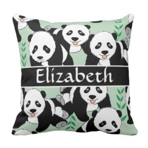 Panda Gifts - Personalized Panda Pillow