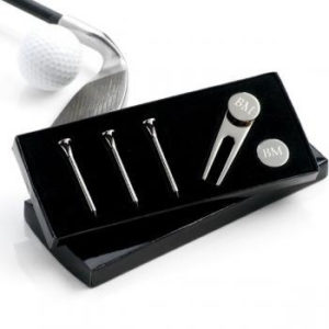 gifts for golfers - Personalized Silver-Plated Golf Set
