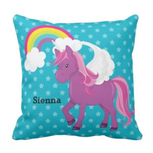 Unicorn Gifts - Personalized Unicorn Throw Pillow