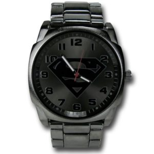 Superman Gifts for Adults - Superman Symbol Steel Alloy Men's Watch