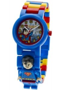 Superman Gifts for Kids - Buildable Superman LEGO Figure Kids' Watch