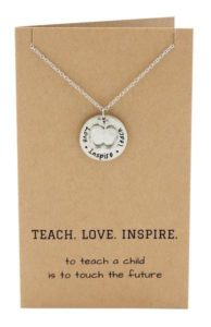 Teacher Appreciation Week Gift Ideas - Teach Love Inspire Necklace