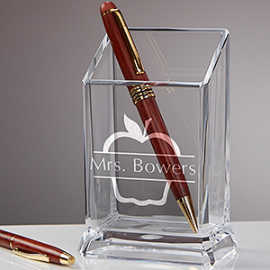 Teacher Appreciation Gifts - Teachers' Acrylic Personalized Pen & Pencil Holder