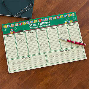Teacher Appreciation Gifts -Teacher's Little Learners Personalized Desk Pad Planner