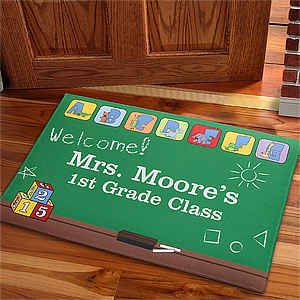 Gifts for Teachers - Teacher's Little Learners Personalized Doormat