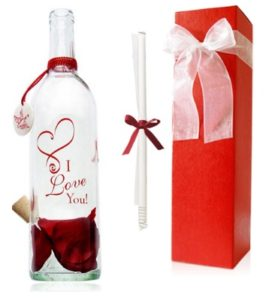 Unique Valentine Gift Ideas for Her - Personalized Message in a Bottle Gift