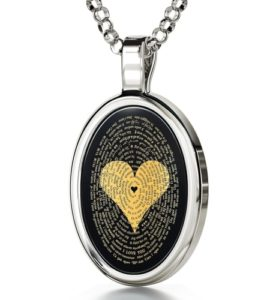 """Unique Valentine's Day Gift Ideas for Her - """"I Love You"""" Necklace in 120 Languages"""