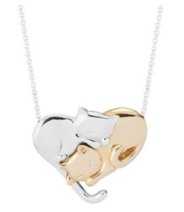 Unique Valentine's Day Gifts for Her - Intertwined Felines Necklace