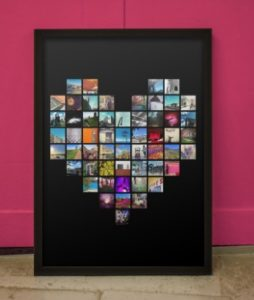 Unique Valentine's Day Gifts for Her - Personalized Instagram Pixel Heart Print