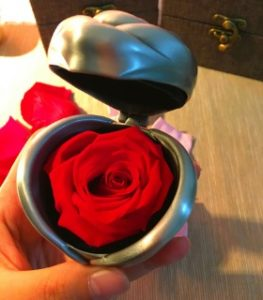 Unique Valentine's Day Gifts for Her - Preserved Rose in Heart-Shaped Box
