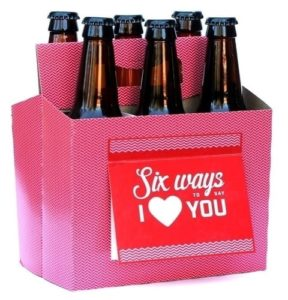 Unique Valentine's Day Gifts for Him - Six Pack Greeting Card