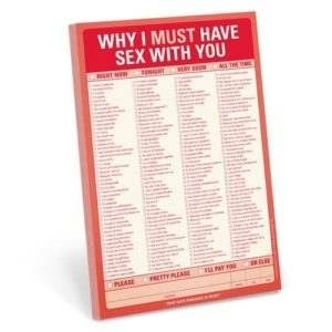 Unique Valentine's Day Gifts for Him - Why I Must Have Sex with You Pad