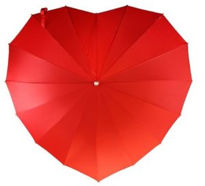Unique Valentine's Day Presents for Her - Heart-Shaped Umbrella