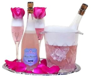 Unique Valentine's Gifts for Her - Champagne Bubble Bath Gift Set