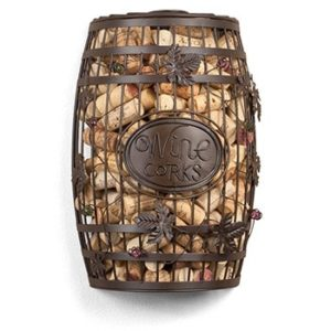 Unique Wine Gifts - Wine Barrel Cork Cage