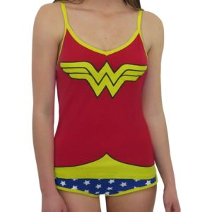 Wonder Woman Gifts - Glow-in-the-Dark Wonder Woman Camisole & Panty Set