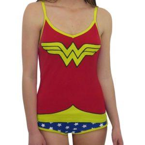 Wonder Woman Gifts - Glow-in-the-Dark Wonder Woman Camisole & Panty Set