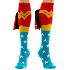 Wonder Woman Gifts - Wonder Woman Knee-High Caped Socks