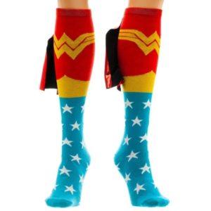 Wonder Woman Gifts - Wonder Woman Knee-High Caped Socks