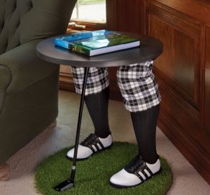 gifts for golfers - gentleman's golfer side table