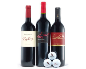gifts for golfers - golf and wine legends gift set