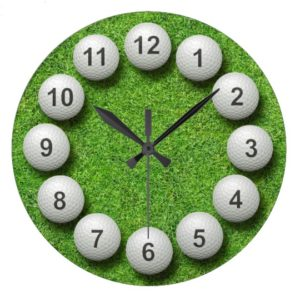 gifts for golfers - golf ball clock