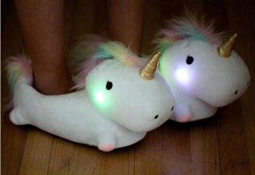 Unicorn Gifts - Light Up Unicorn Slippers