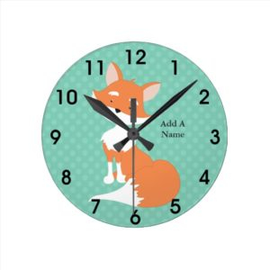 Fox Gifts - Personalized Fox Clock